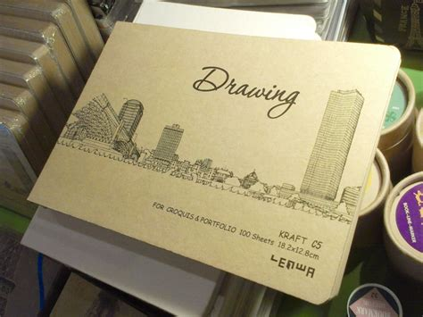 sketchbook lucu kraft paper drawing sketch book panmomo belanja