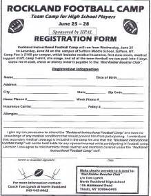 Football Registration Form Template forms tappan zee high school football vnsports