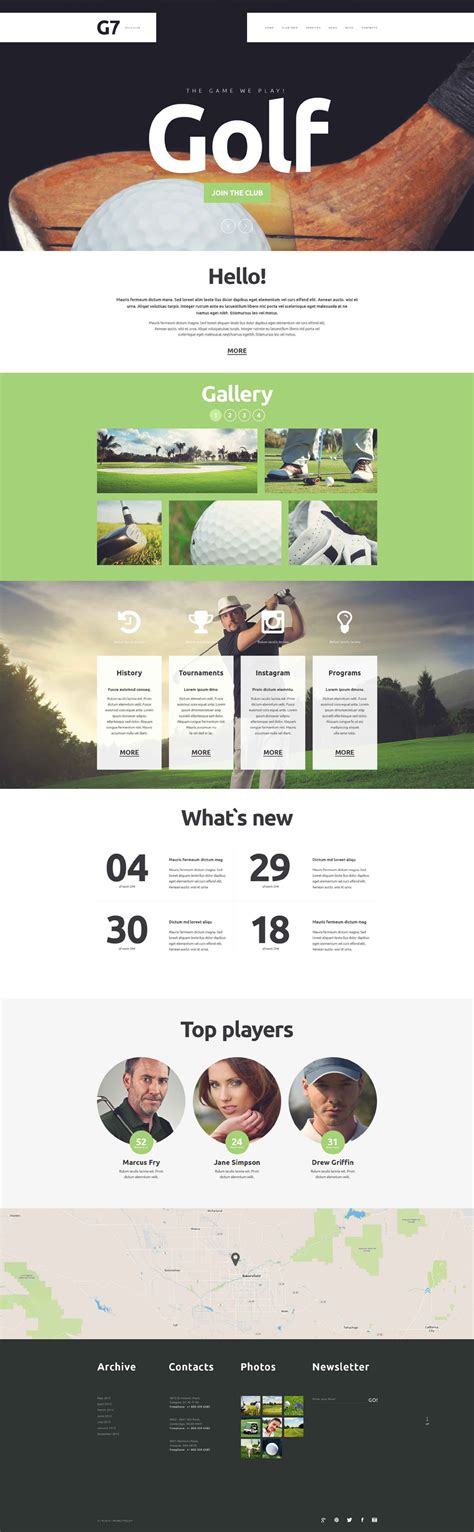 Golf Club Website Template 52364 Golf Website Template Free