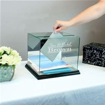 Personalized Sweet 16 Birthday Glass Card Box   Rectangle