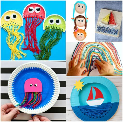Arts And Crafts by 40 Fantastic Yarn Crafts The Pinterested Parent