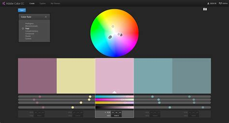 create color themes with adobe color themes panel in illustrator how to create a colour scheme using adobe color create