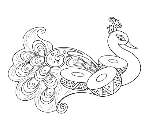 coloring pages rangoli designs rangoli with peacock coloring page pattern art culture