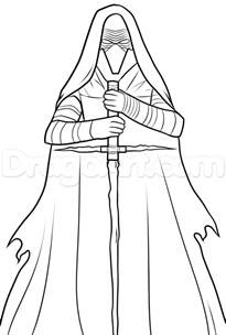 coloring pages kylo ren how to draw kylo ren kylo ren wars vii step by step