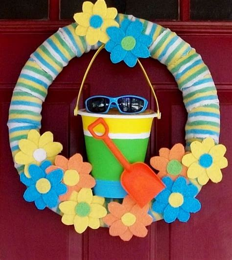 summer decoration ideas to make your own for your garden 20 beautiful summer wreath tutorials and ideas hative