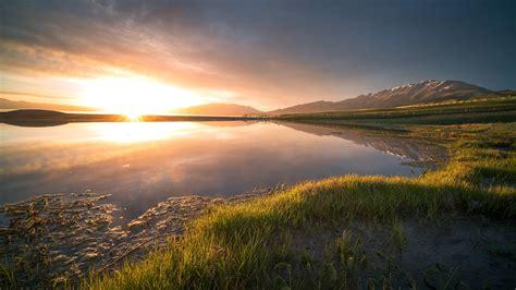 china xinjiang wetland park morning sunrise preview