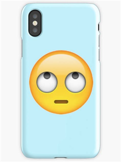b iphone emoji quot eye rolling emoji quot iphone cases covers by ctnjflmt redbubble
