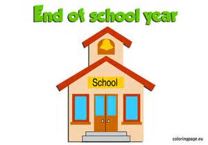 End of the school year coloring page