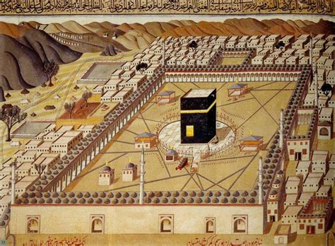 ottomans islam kaaba in an ottoman picture mecca bir osmanlı resminde