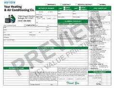 Plumbing Flat Rate by This Flat Rate Invoice Has Space For 3 Units Serviced