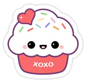 Kids Stickers For Walls quot cute love cupcake quot stickers by sugarhai redbubble