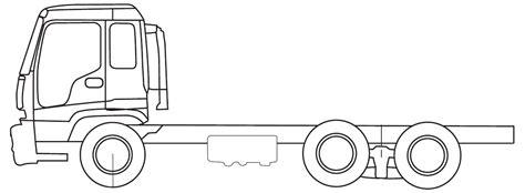 coloring book npr car blueprints isuzu fxr tandem truck blueprint