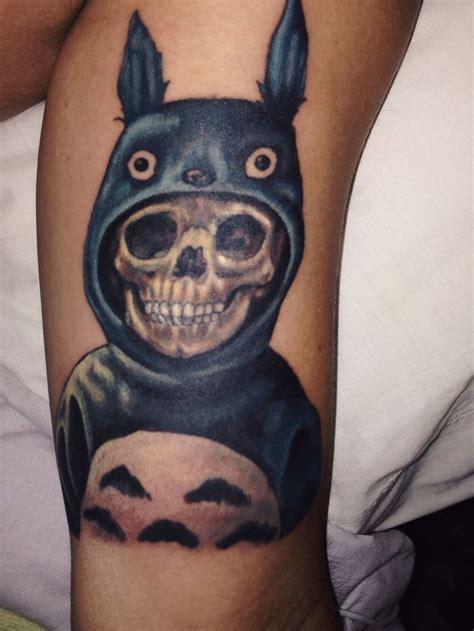 hayao miyazaki tattoo totoro skull hayao miyazaki studio ghibli donnie