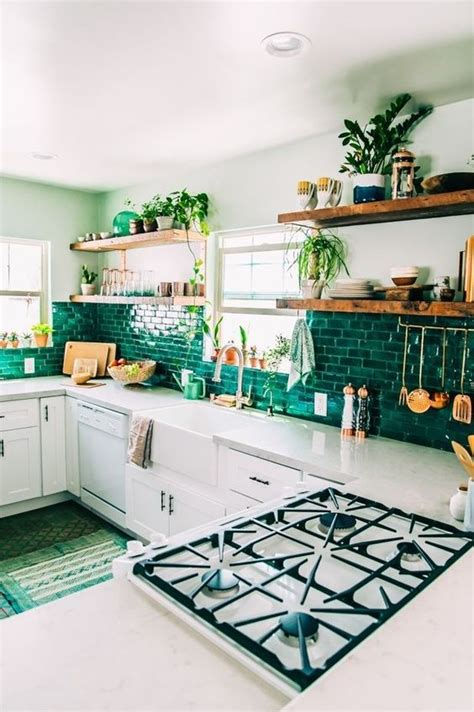 white kitchen with copper and wood accessories color scheme 35 ways to use subway tiles in the kitchen digsdigs