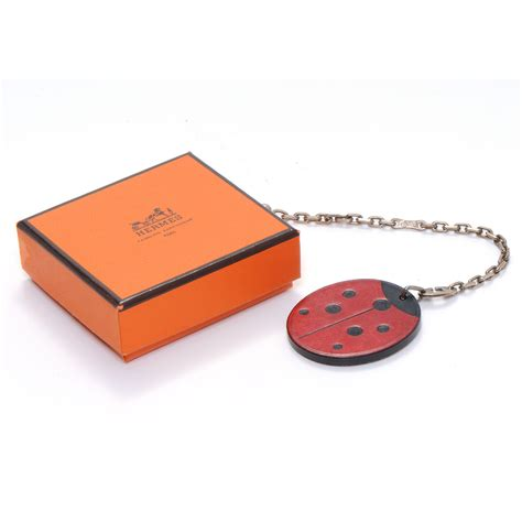 Hermes Lucky Key Ring by Hermes Leather Lucky Bug Key Ring 50458