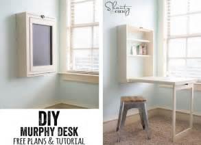 Diy murphy desk diy cozy home