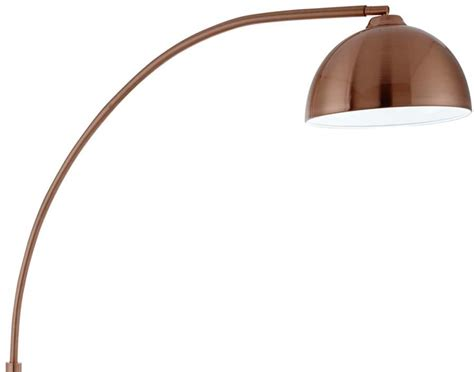 copper arc floor l giraffe arc floor l in copper with domed copper shade 914cu