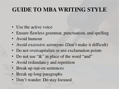 Mba In Journalism by Softskill Standard Of Writing In Mba College