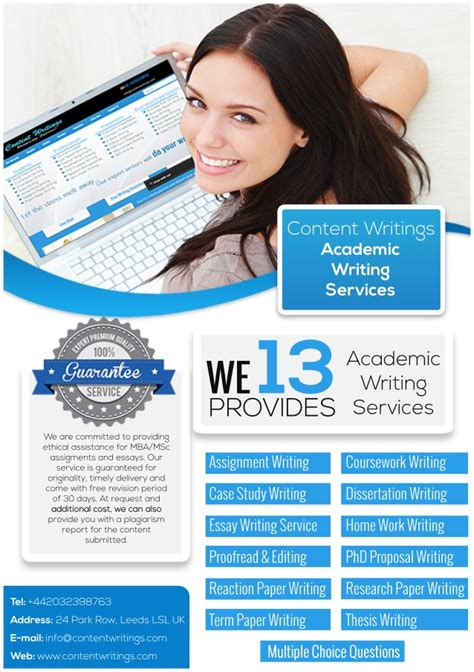 Academic Essay Writing Service by Contentwritings Academic Writing Services Flyer