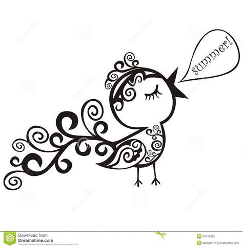 stylized birds stock photography image 30475862