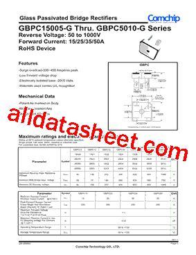 Gbpc5010 G By Pacalaya Electronics gbpc2508 g datasheet pdf comchip technology