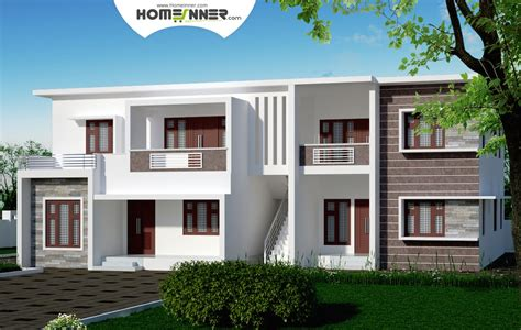 house plans with separate apartment duplex home with two separate 2 bhk apartment design