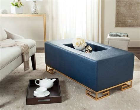 Blue Coffee Table Navy Blue Coffee Table With Tufted Ottoman Roy Home Design