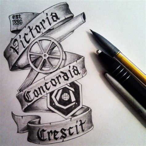 arsenal tattoo designs concordia crescit by sejason56 deviantart on