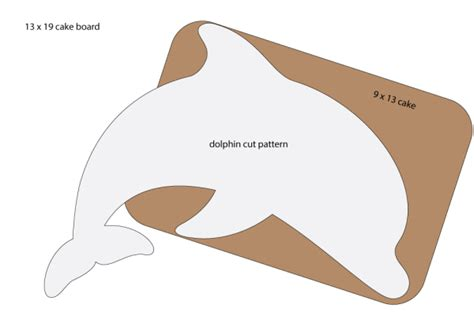 dolphin cut out template a pink dolphin fondant cake catjuggling