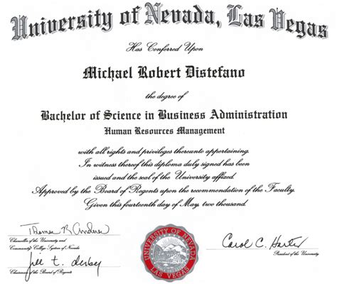 Unlv Executive Mba Cost by Human Resource Management 2015
