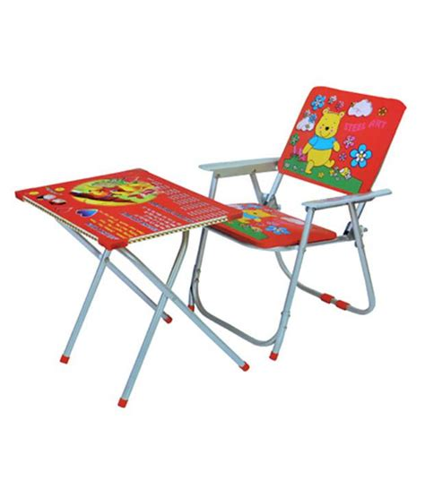 study table and chair set india multicolor foldable study table and chair