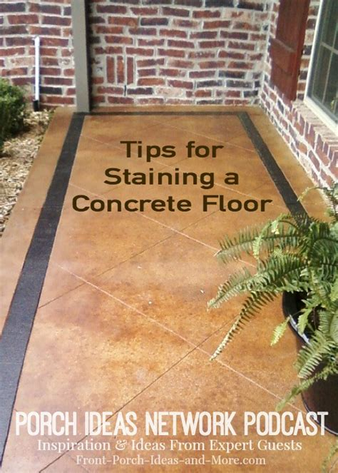 screened porch makeover rough concrete floor podcast 19 tips for staining a concrete floor