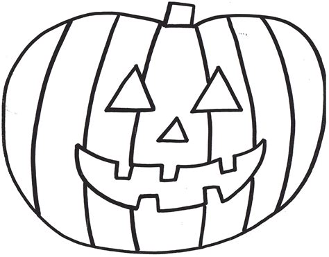 simple pumpkin coloring page scary halloween pumpkin coloring pages for kids