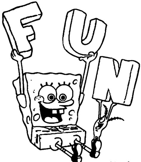free coloring pages of sponge baby