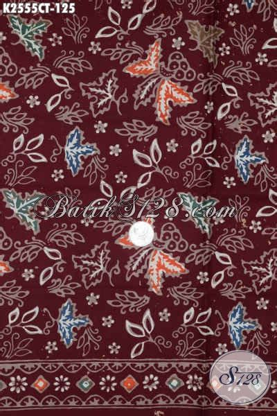 Batik Mutia Maroon Modis produk kain batik bahan baju cowok batik soo warna merah motif bagus proses cap tulis modis