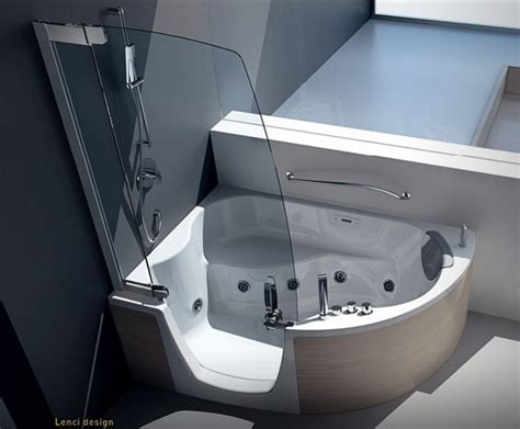 corner bathtub with shower combo modern shower furniture modern corner bathtub with shower combo from teuco shower
