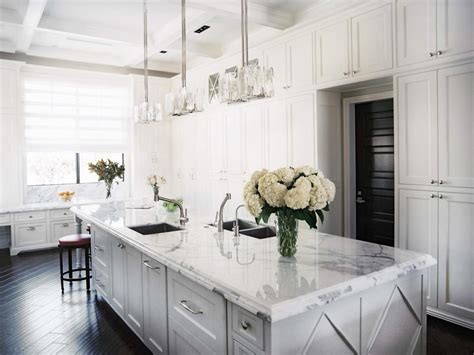 White Marble Kitchen Island Country Kitchen Islands Pictures Ideas Tips From Hgtv Kitchen Ideas Design With Cabinets