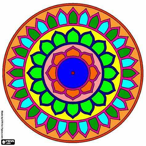 imagenes de mandalas a color mandala 1 color para colorear mandala 1 color para imprimir
