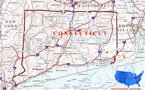 us map connecticut connecticut maps