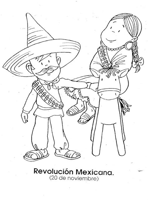 imagenes de la revolucion mexicana para niños a color pinto dibujos dibujo de la revoluci 243 n mexicana 20 de