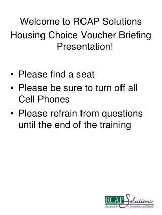 rcap solutions section 8 ppt housing choice voucher section 8 participant