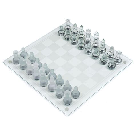 glass chess boards trademark games deluxe glass chess set 12 bg030 the home