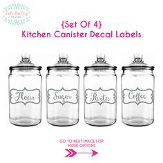 canister set decals personalized canister set kitchen canister kitchen utensils bakeware and vintage kitchen on pinterest