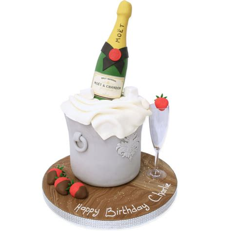 Champagne Ice Bucket Cake   Birthday Cakes   The Cake Store