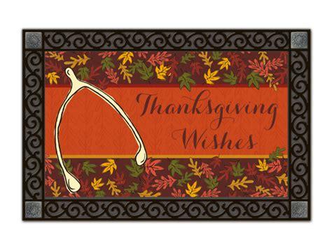 Thanksgiving Doormat thanksgiving wishbone fall kitchen seasonal matmates doormat