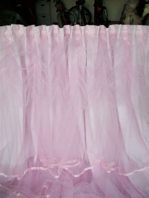 pink tulle curtains pink tulle curtains romancing my home pinterest