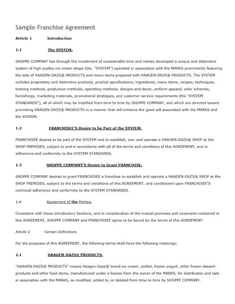 Shipping Contract Template agreement freewordtemplates net