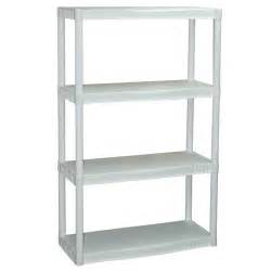 plastic bookshelves plano 4 shelf storage unit white walmart