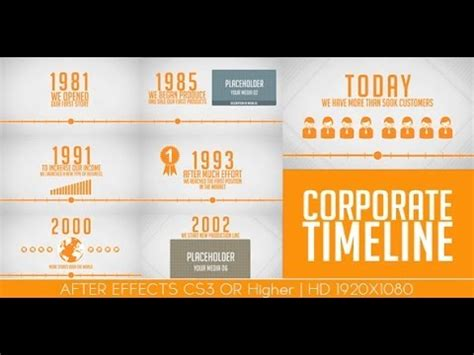 after effects timeline template after effects templates quot corporaet timeline quot www