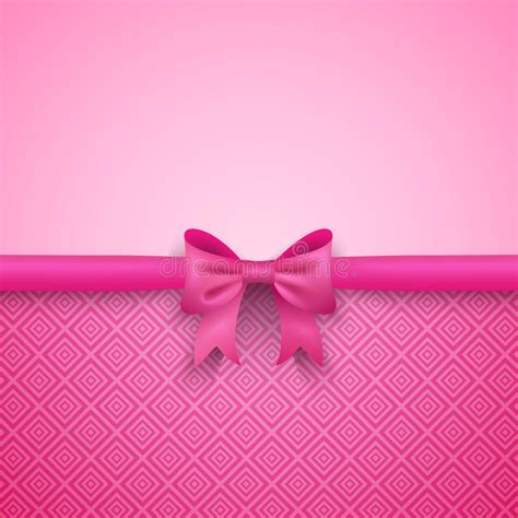 romantic pink background  cute bow  stock